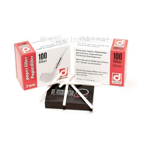 Бумажные фильтры Denicotea 3мм, 100 шт в коробке