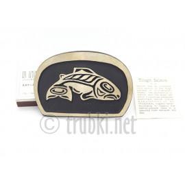 Большая рыба Тлингит. Бронзовая пряжка для пояса