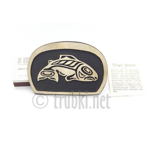 Большая рыба племени Тлингит. Бронзовая пряжка для пояса