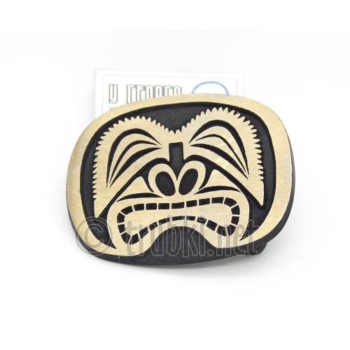 Гавайская маска. Бронзовая пряжка для пояса