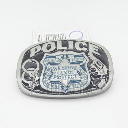 Жетон полиции США. Пряжка ременная