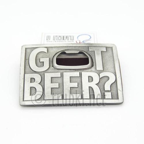 Пиво принес? Пряжка с открывалкой ременная