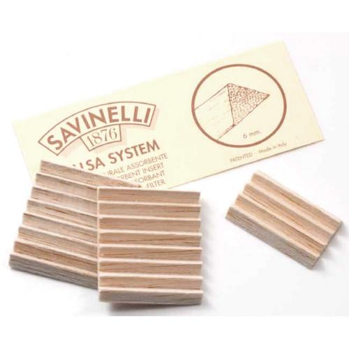 Savinelli balsa 6мм фильтры, 20 штук